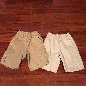2 pairs of The Children's Place khaki cargo shorts
